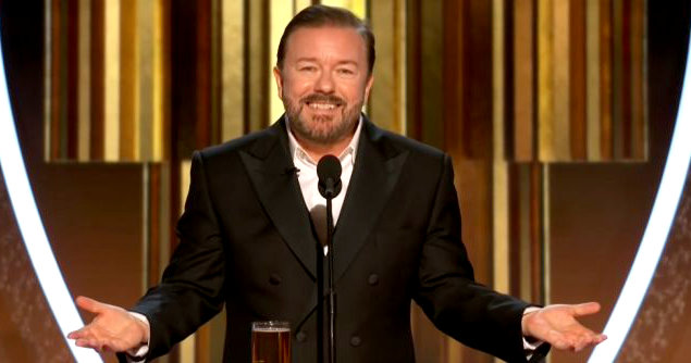 "Ricky Gervais thank fuck its over - Ricky Gervais says ""thank f*** it's over"""